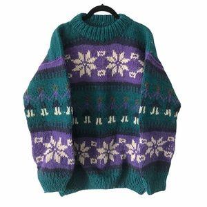 Vintage Fisherman Heavy Knit Sweater Onesize